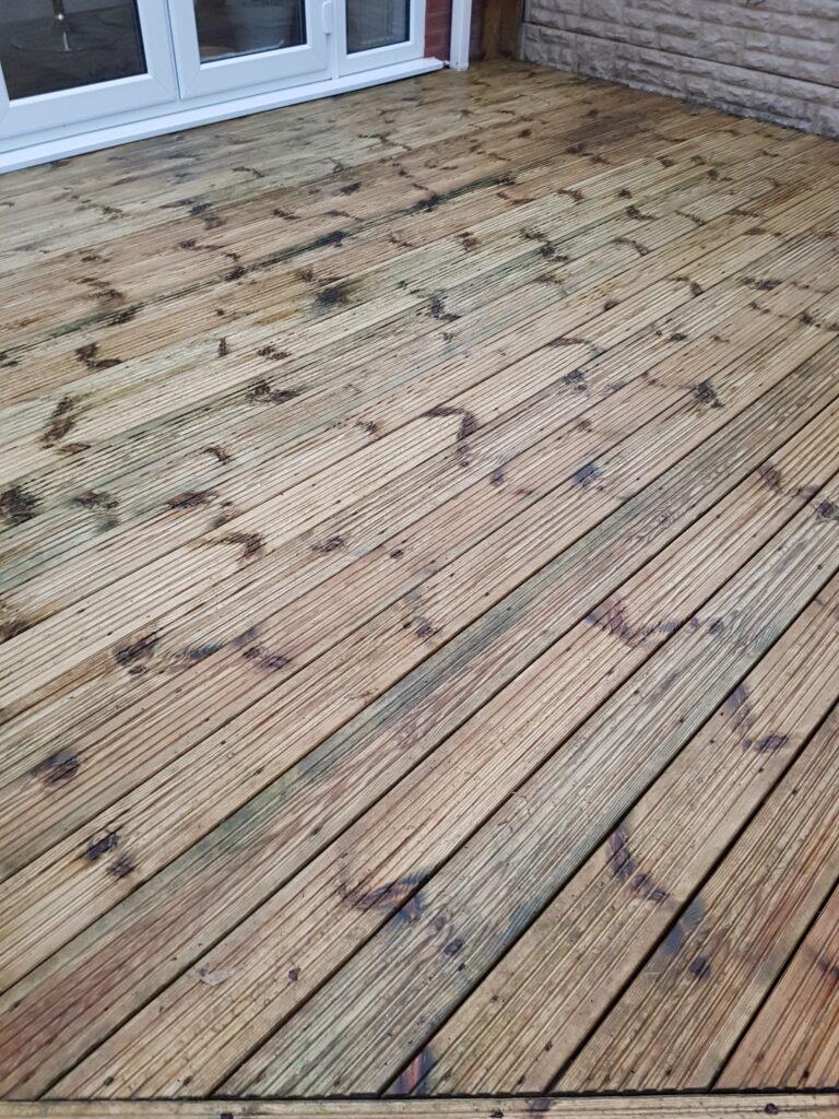 Wood Decking After Pressure Washing